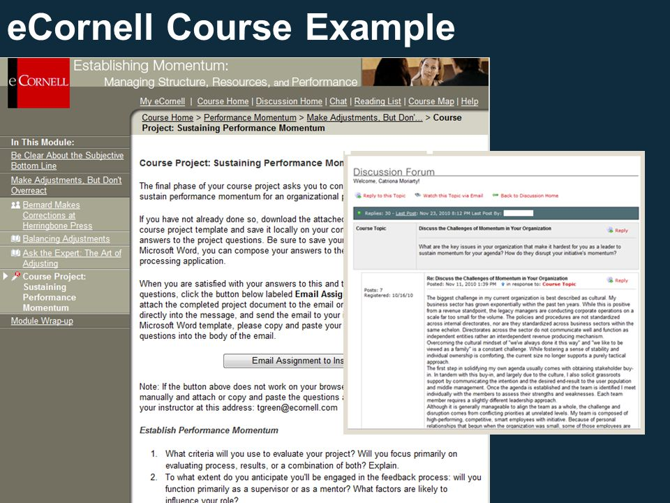 eCornell Course Example