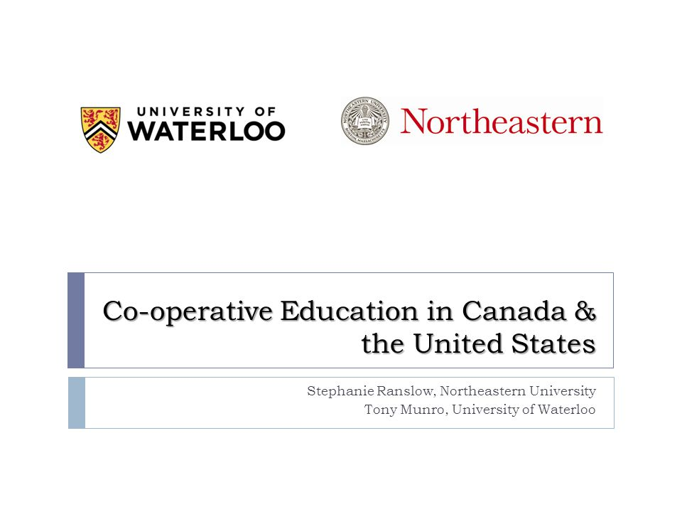 Outline  Experiential learning co-operative education  Co-operative education vs.