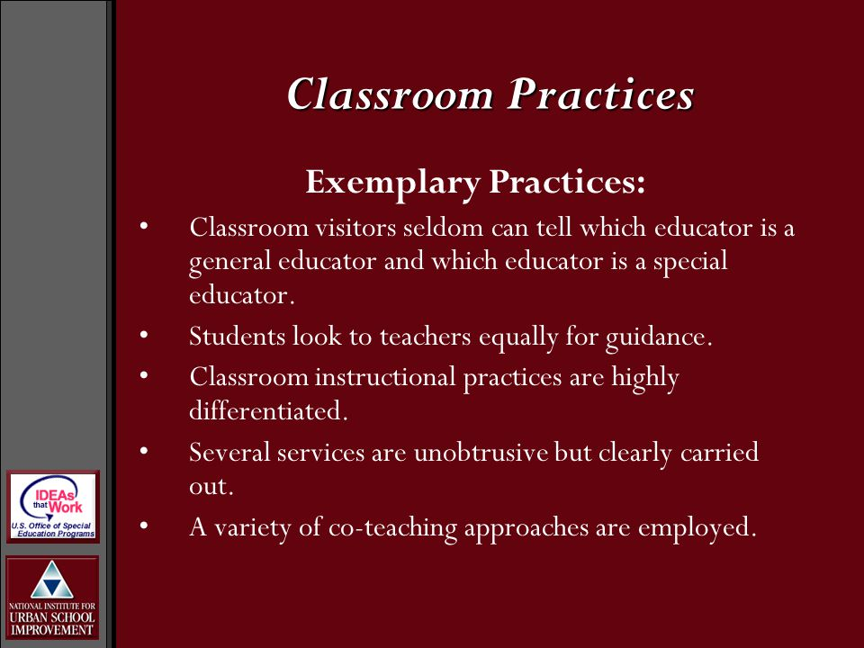 Average Practices: Both teachers are willing to work with any students.