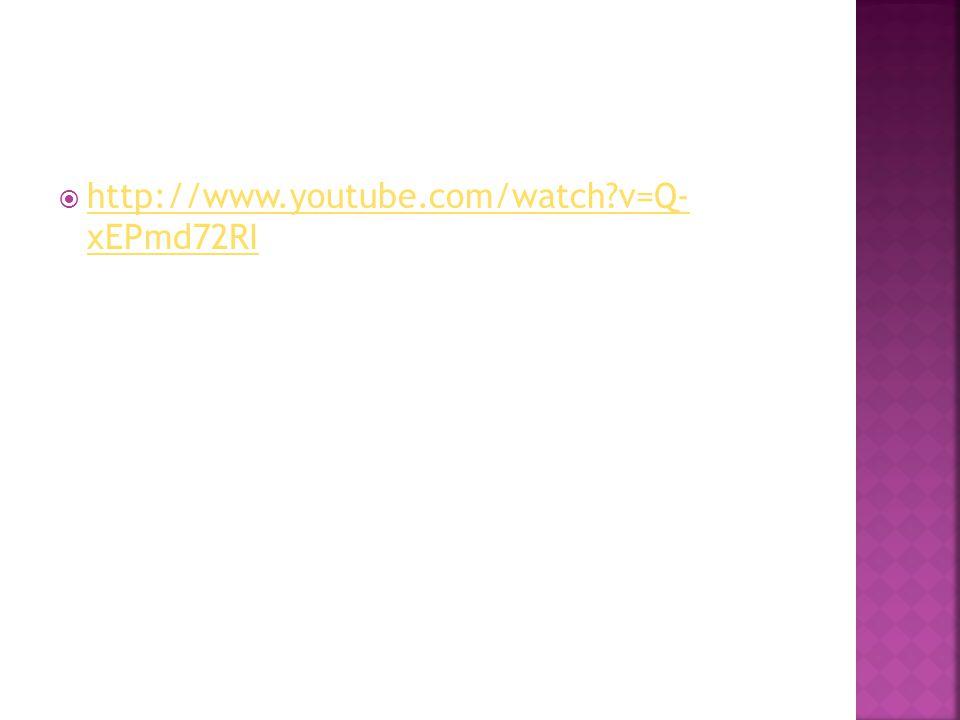  http://www.youtube.com/watch v=Q- xEPmd72RI http://www.youtube.com/watch v=Q- xEPmd72RI