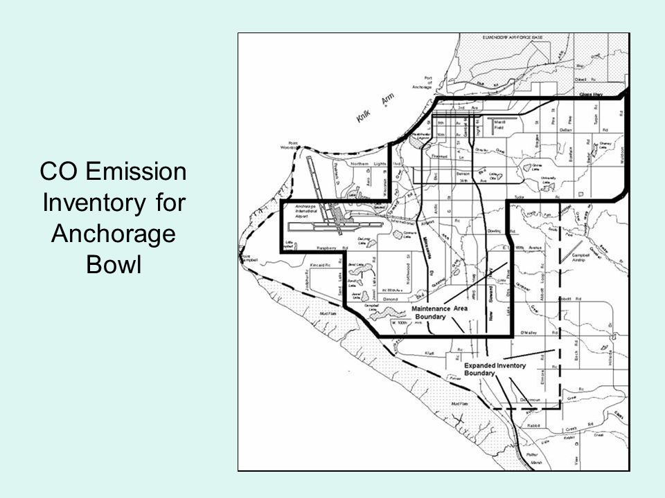 CO Emission Inventory for Anchorage Bowl