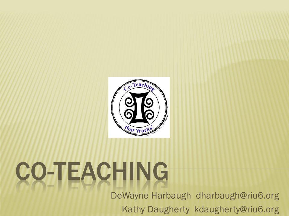 DeWayne Harbaugh dharbaugh@riu6.org Kathy Daugherty kdaugherty@riu6.org