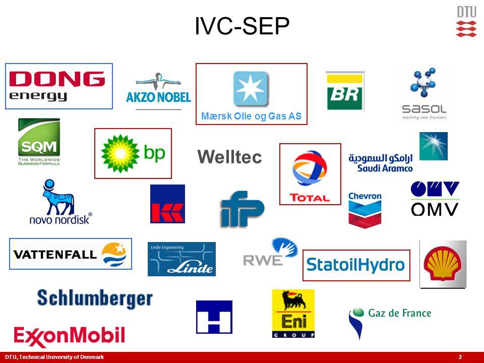 DTU, Technical University of Denmark 2 IVC-SEP Mærsk Olie og Gas AS Welltec
