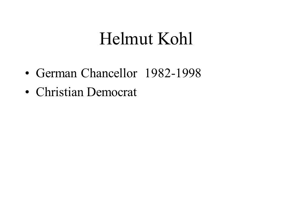 Helmut Kohl German Chancellor 1982-1998 Christian Democrat