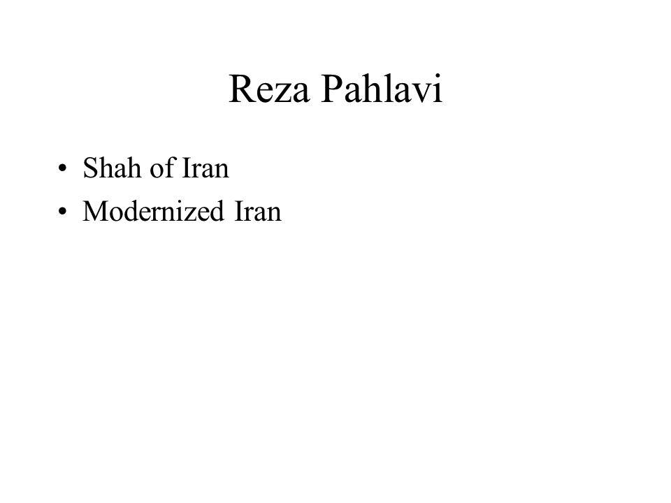 Reza Pahlavi Shah of Iran Modernized Iran