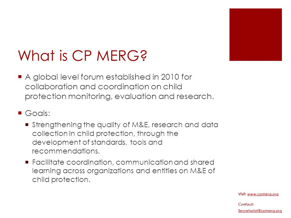 What is CP MERG.