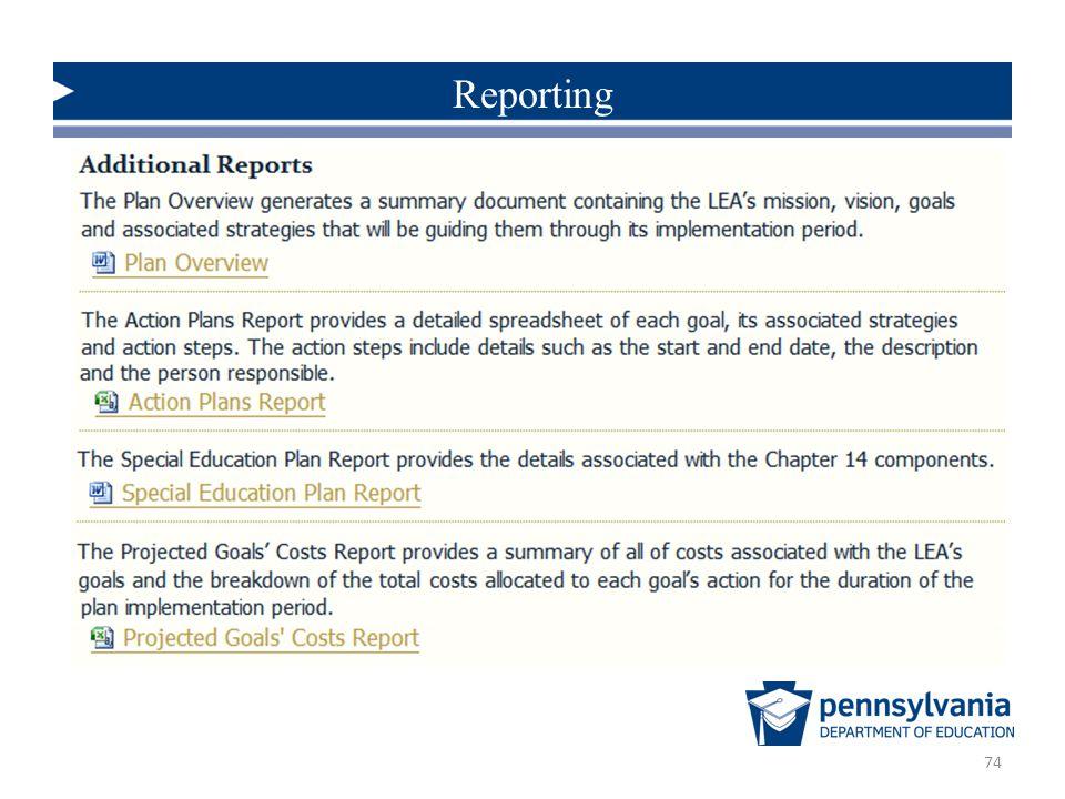 74 Reporting