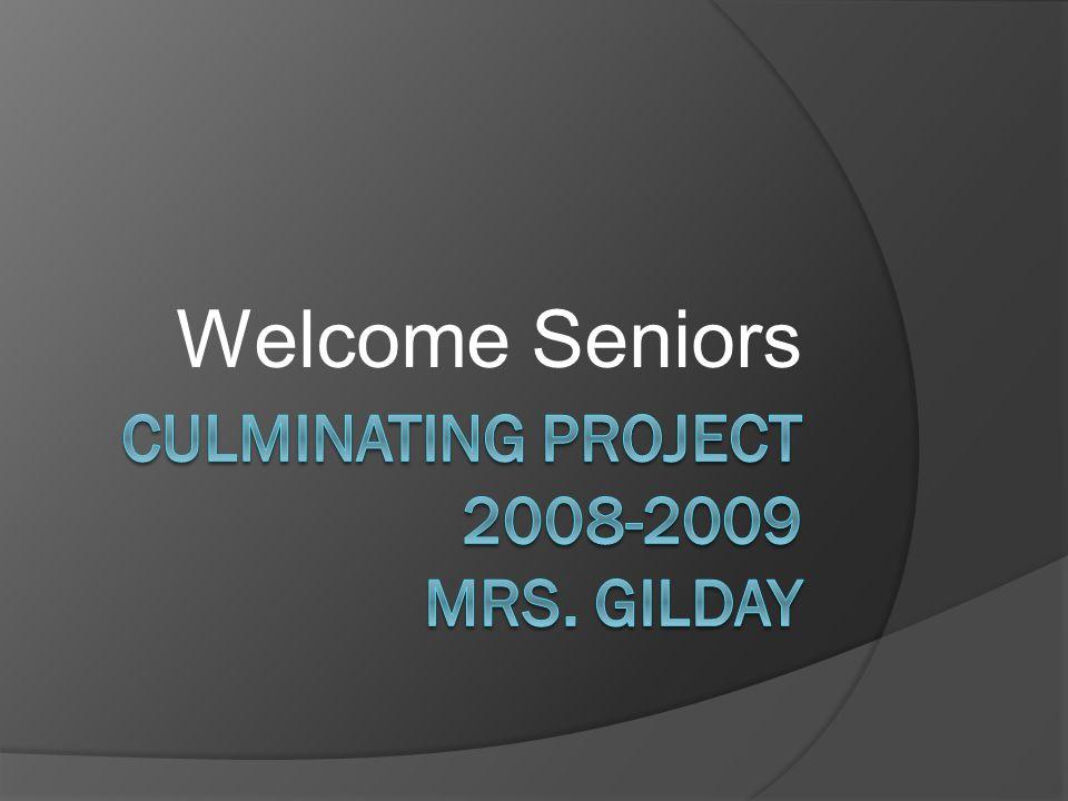 Welcome Seniors
