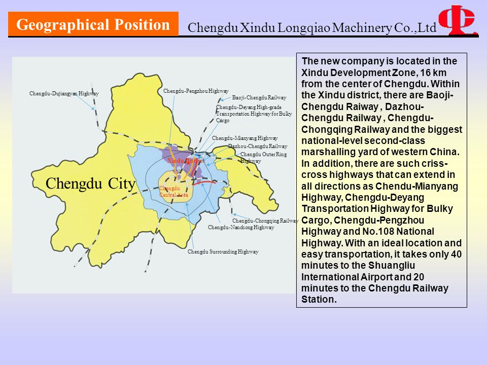 Company Culture Chengdu Xindu Longqiao Machinery Co.,Ltd  Spirit of Chuan Long Company: Respect work, Cooperate, Innovation and Developing.