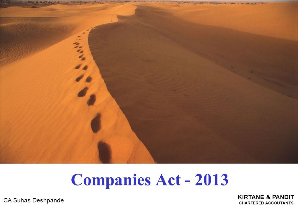 KIRTANE & PANDIT CHARTERED ACCOUTANTS CA Suhas Deshpande Companies Act - 2013