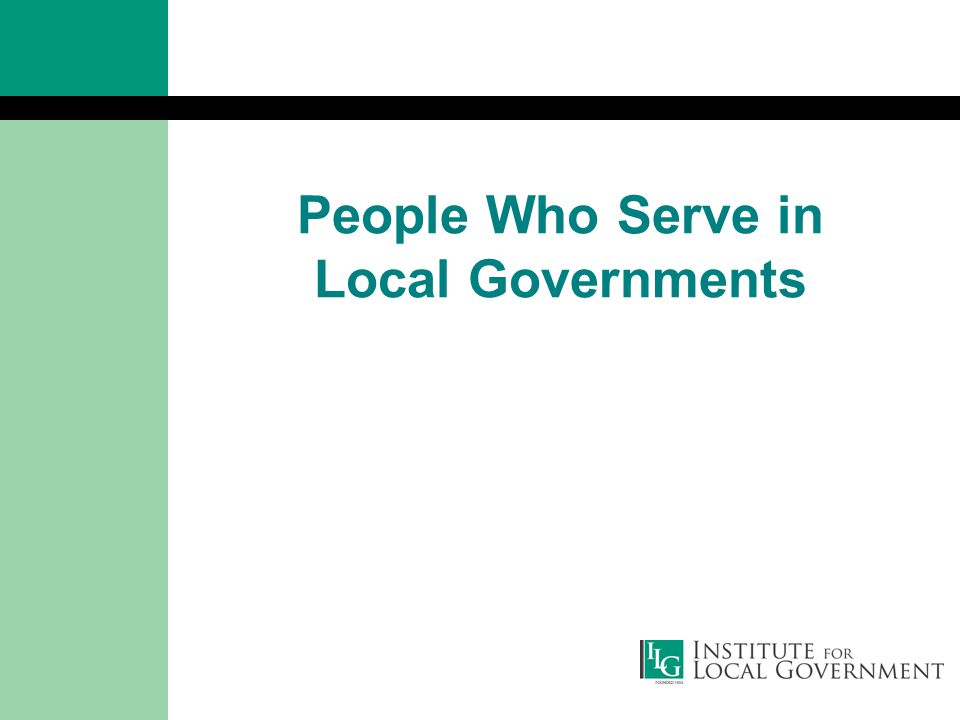People Who Serve in Local Governments