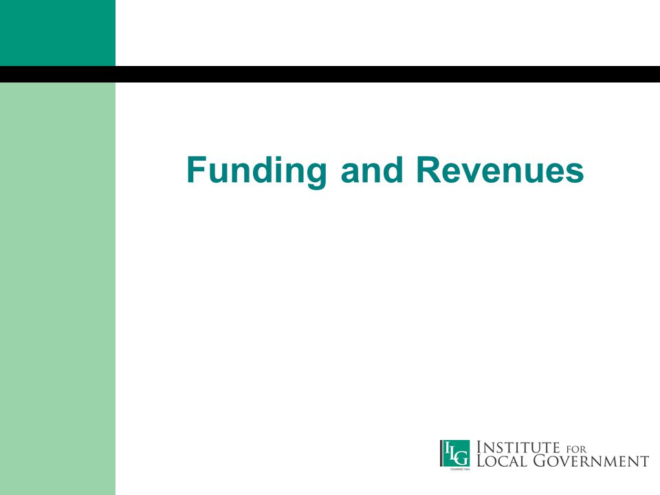 Funding and Revenues
