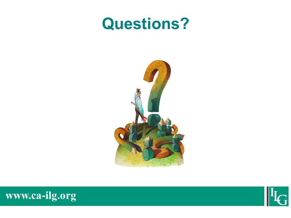 www.ca-ilg.org Questions