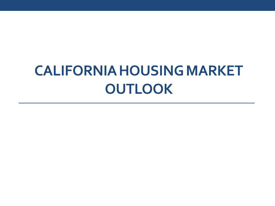 CALIFORNIA HOUSING MARKET OUTLOOK