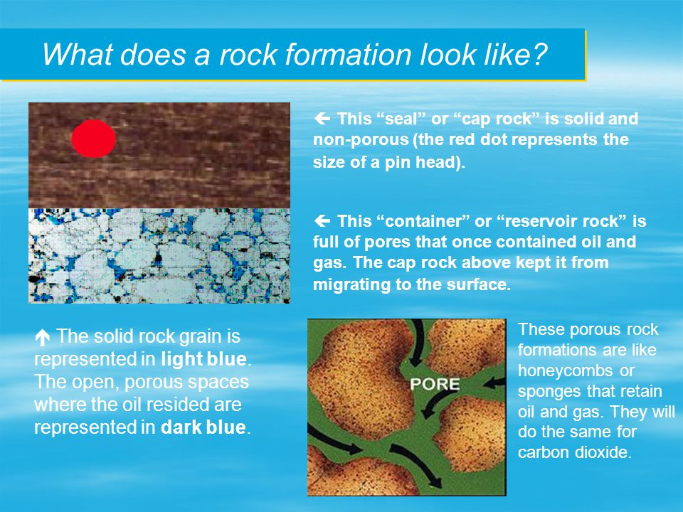 What does a rock formation look like.