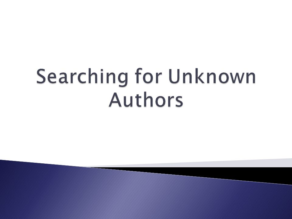 Contemporary Authors is for much more than providing information about authors you already know.
