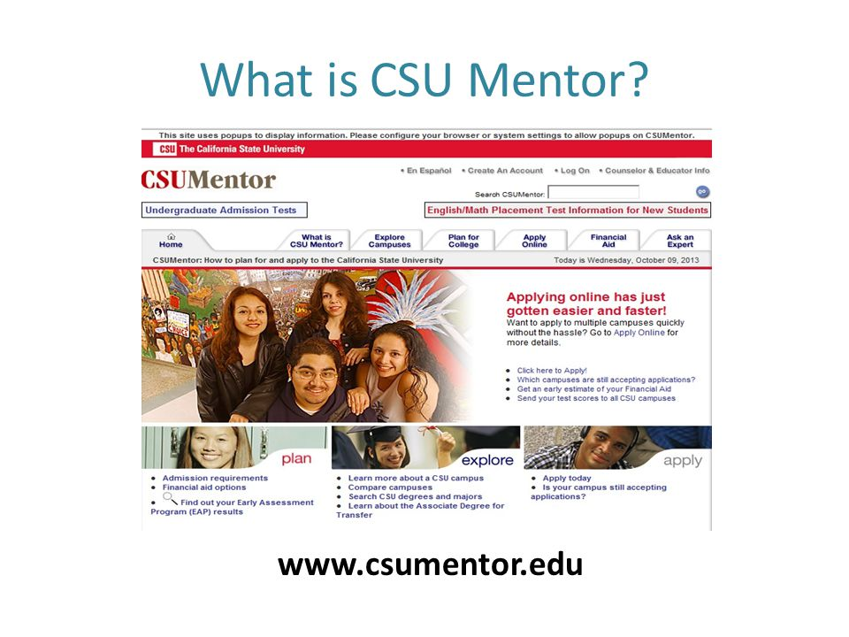 What is CSU Mentor www.csumentor.edu