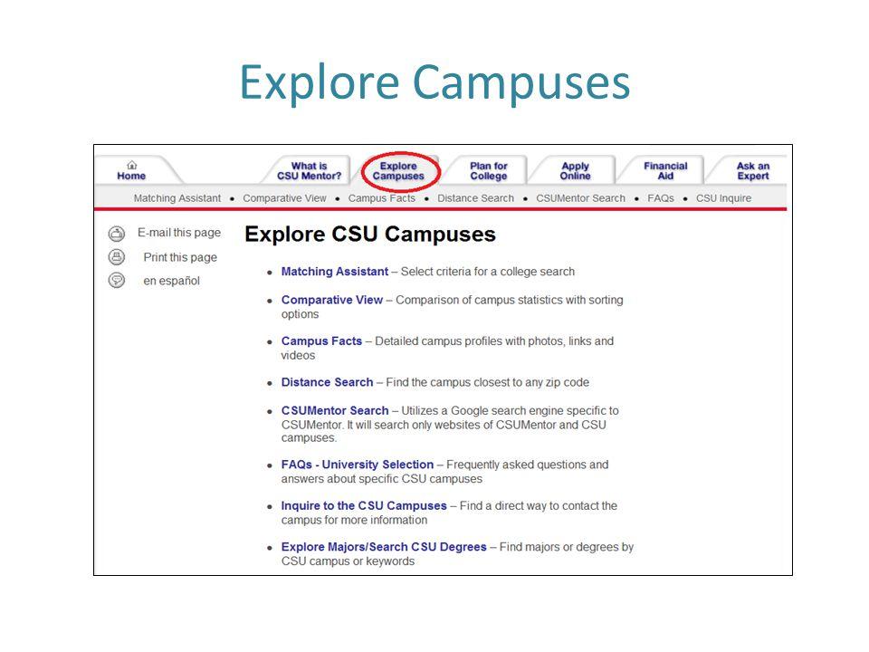 Explore Campuses