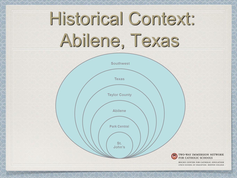 Historical Context: Abilene, Texas Historical Context: Abilene, Texas Southwest Texas Taylor County Abilene Park Central St.