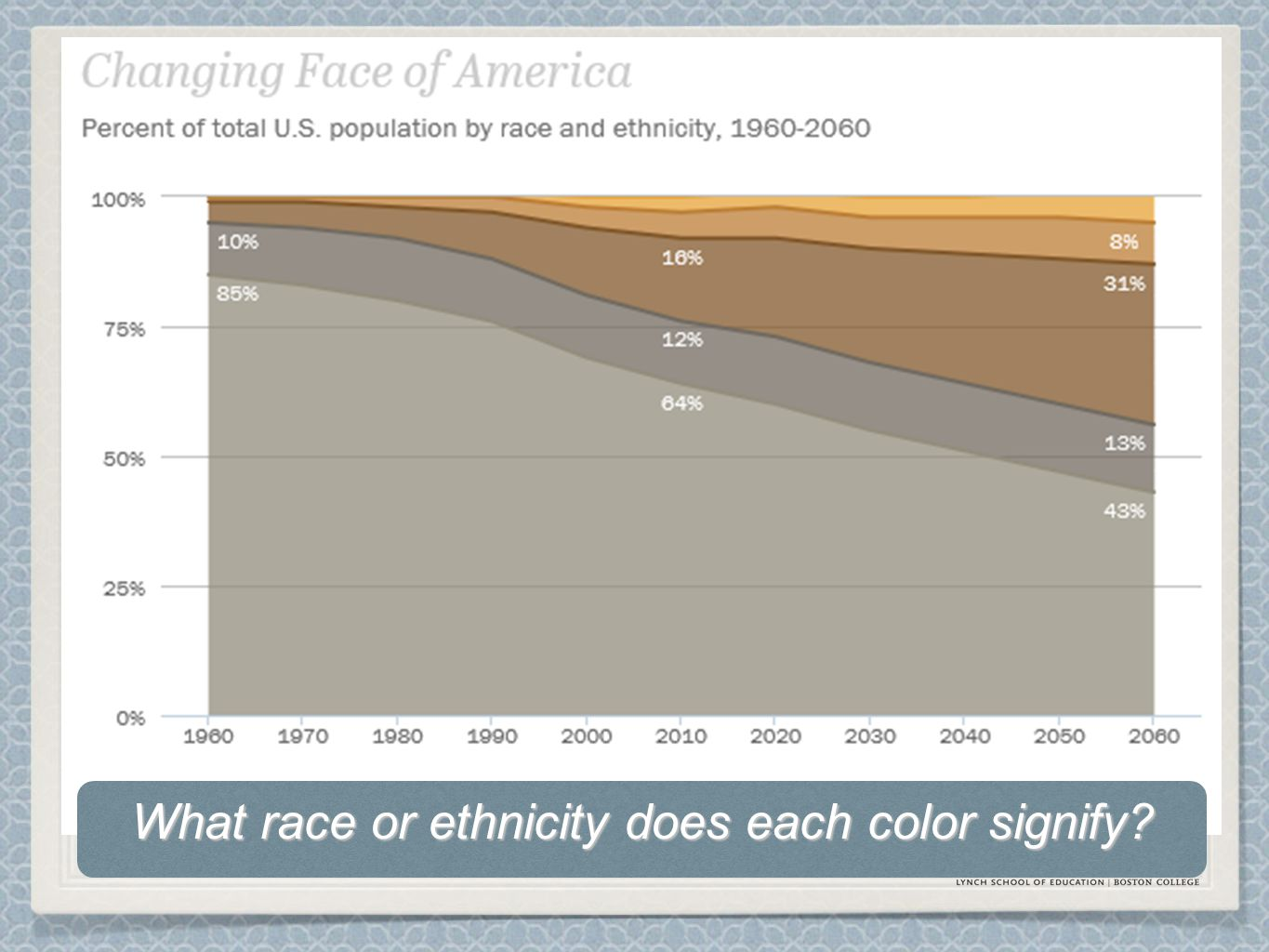 What race or ethnicity does each color signify