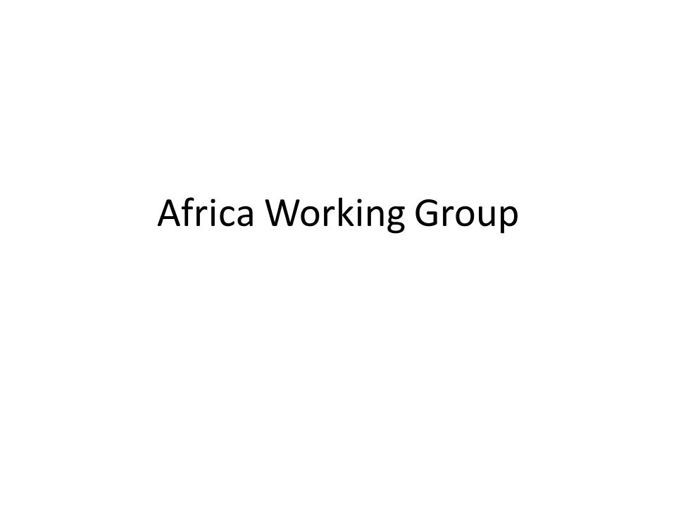Africa Working Group