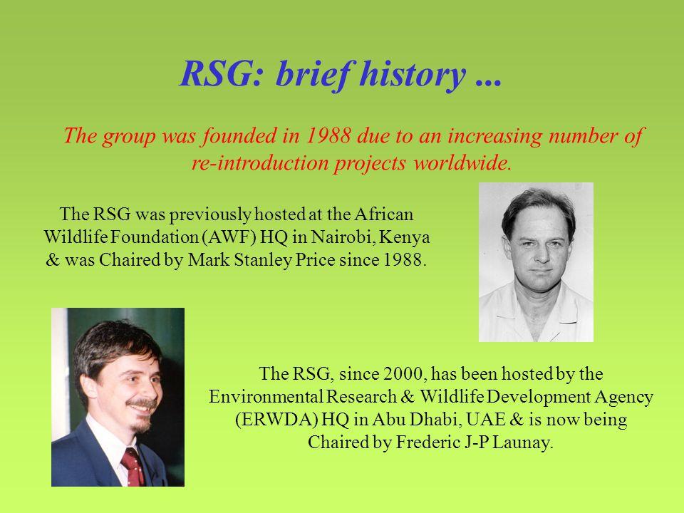RSG: brief history...