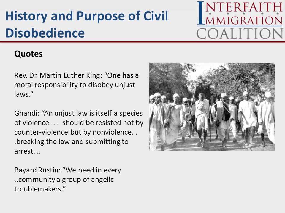 Question and Answer / Discussion Questions on the history and purpose of Civil Disobedience.