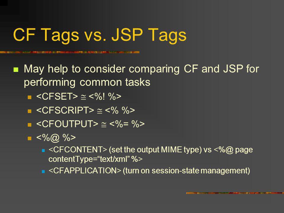 CF Tags vs.