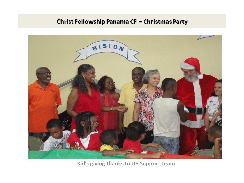 Christ Fellowship Panama CF – Christmas Party Kid's giving thanks to US Support Team