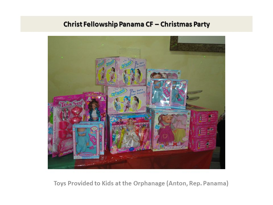 Christ Fellowship Panama CF – Christmas Party Toys Provided to Kids at the Feeding Center Colon, Rep.