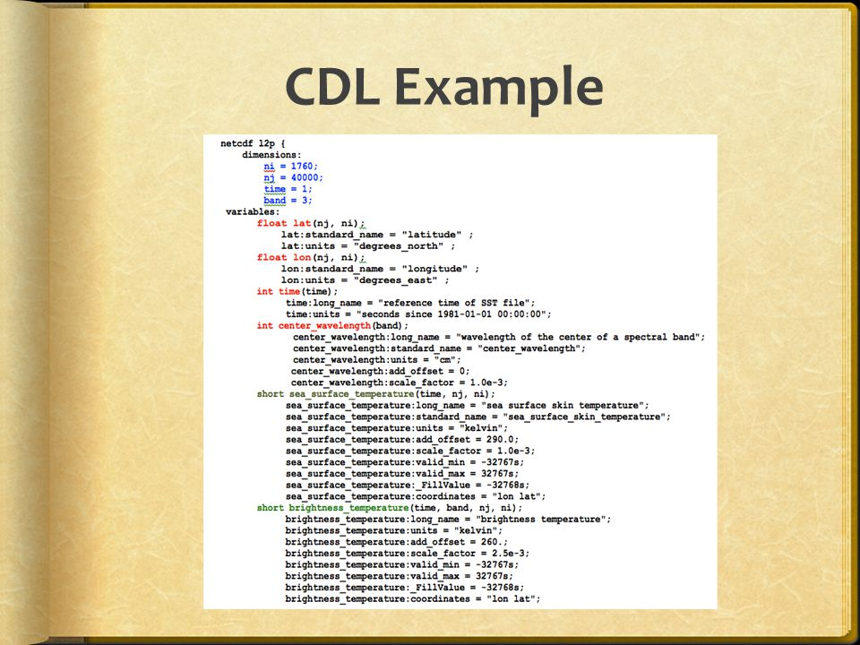 CDL Example