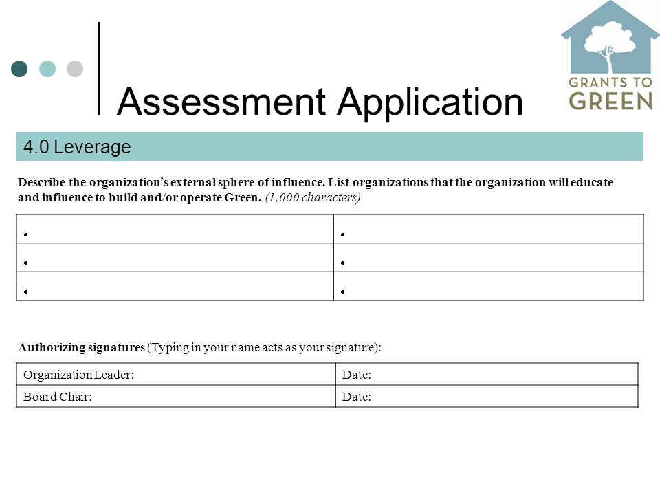 Assessment Application Describe the organization ' s external sphere of influence.