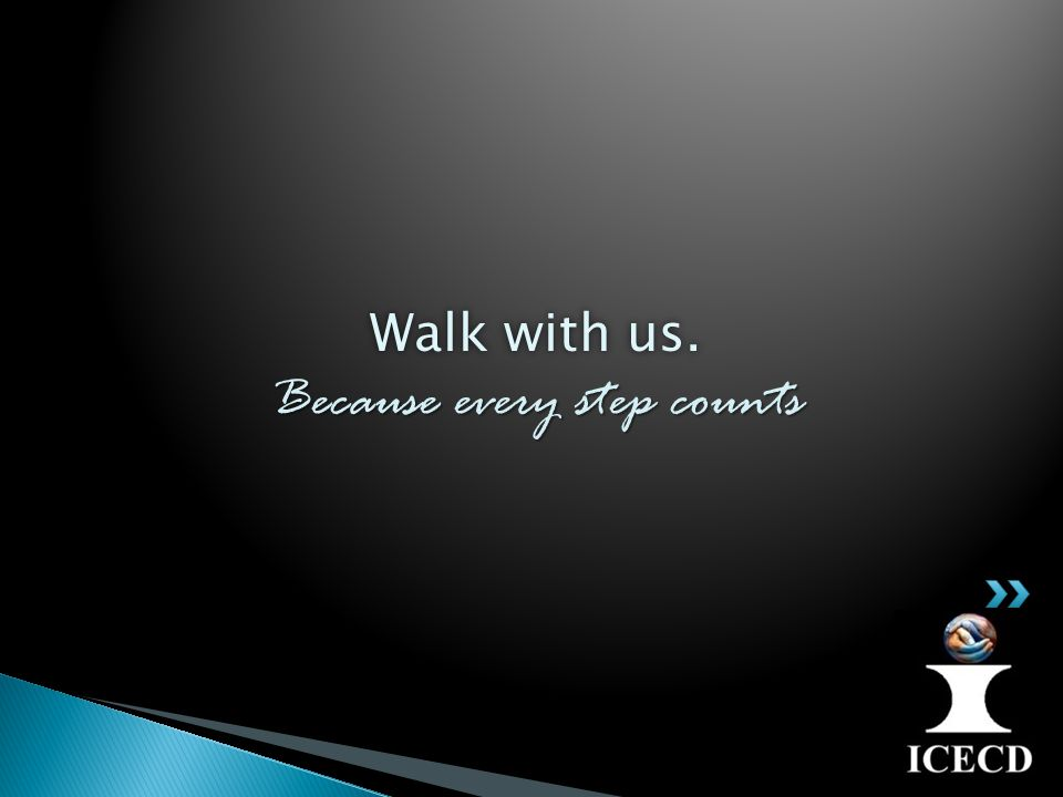 Walk with us. Because every step counts