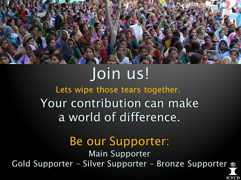 Join us. Your contribution can make a world of difference.