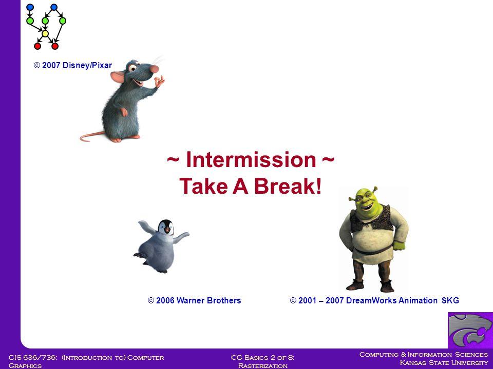 Computing & Information Sciences Kansas State University CG Basics 2 of 8: Rasterization CIS 636/736: (Introduction to) Computer Graphics Generic Poly