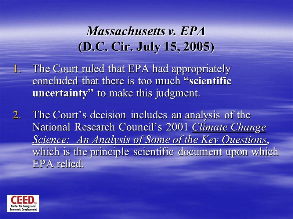 Massachusetts v. EPA (D.C. Cir.