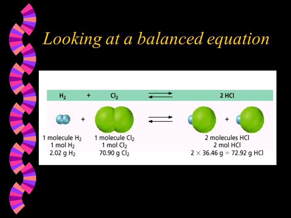 Looking at a balanced equation