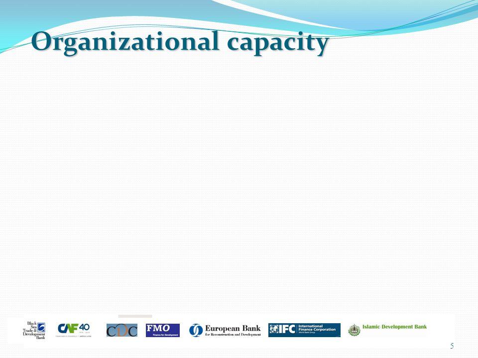 5 Organizational capacity Organizational capacity