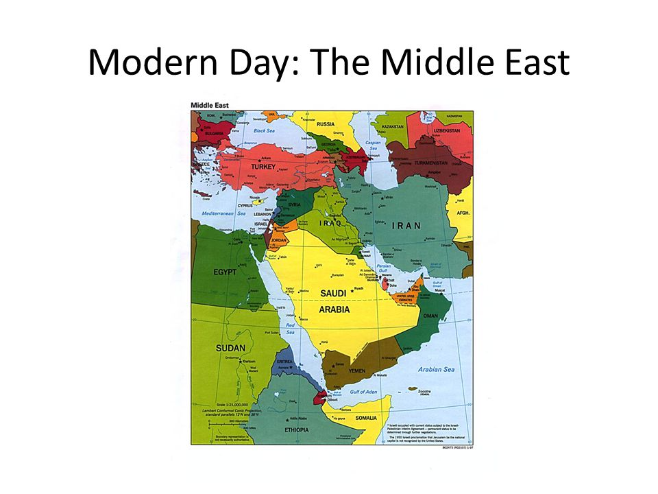 Modern Day: The Middle East
