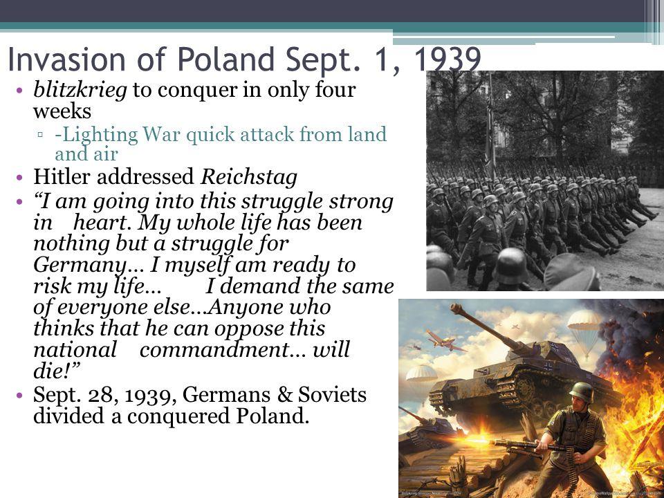 Invasion of Poland Sept.