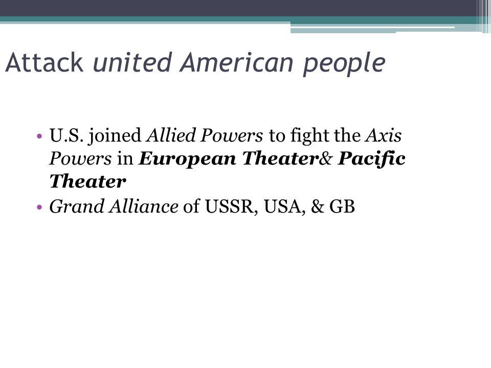 Attack united American people U.S.