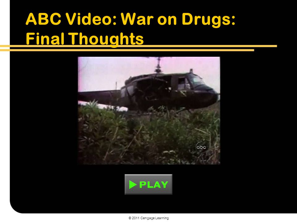 © 2011 Cengage Learning ABC Video: War on Drugs: Final Thoughts