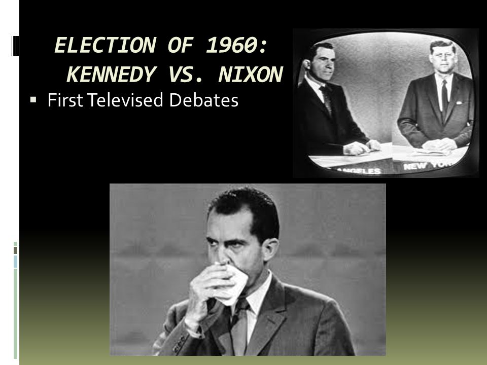 ELECTION OF 1960: KENNEDY VS. NIXON  First Televised Debates