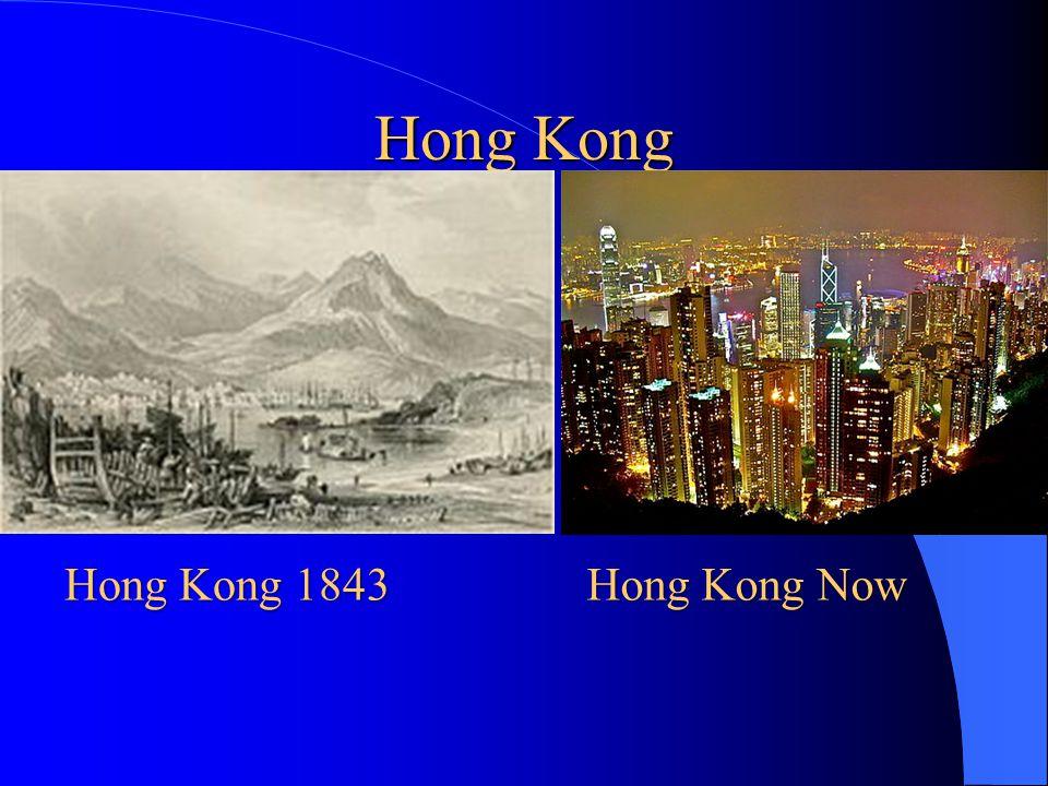 Hong Kong Hong Kong 1843 Hong Kong Now