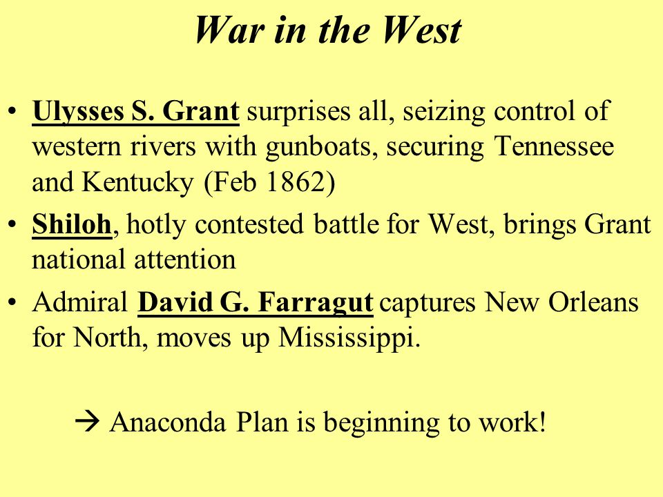 War in the West Ulysses S.