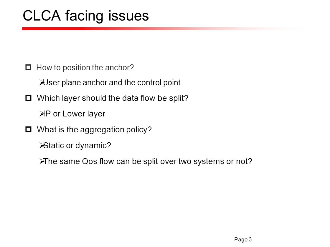 Page 3 CLCA facing issues  How to position the anchor.