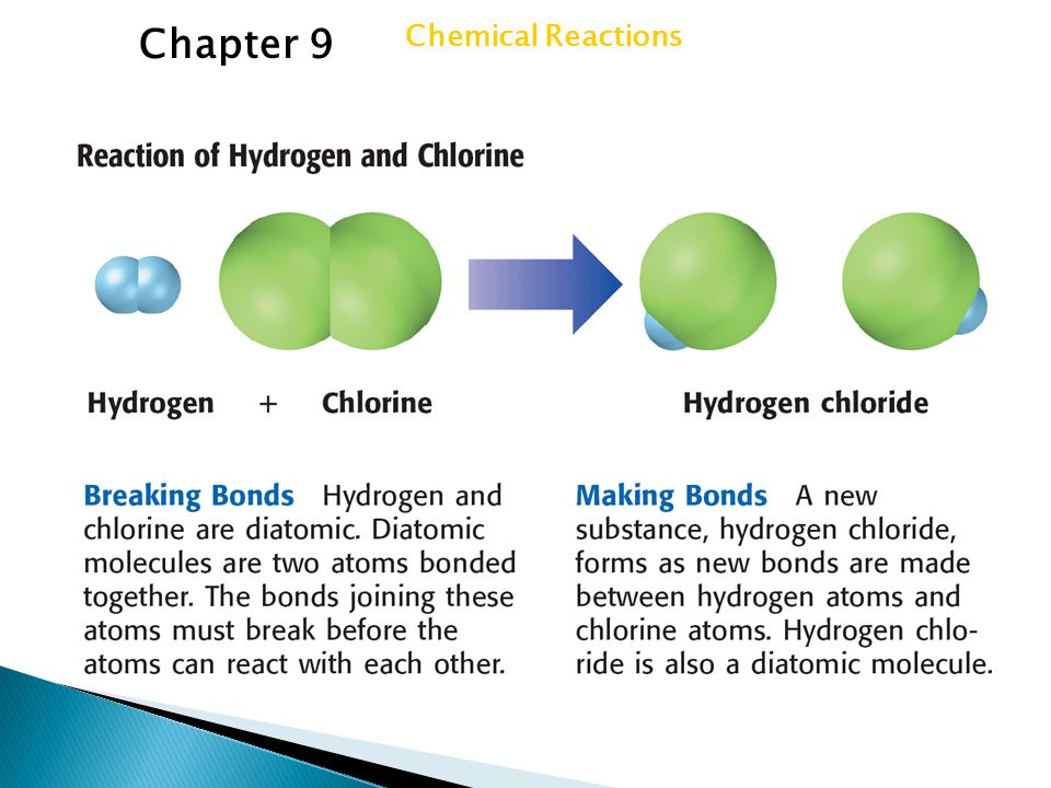  Energy ◦ breaks chemical bonds ◦ As new bonds form  energy is released  exothermic reaction- chemical reaction in which energy is released  can give off energy in several forms Section 1 Forming New Substances