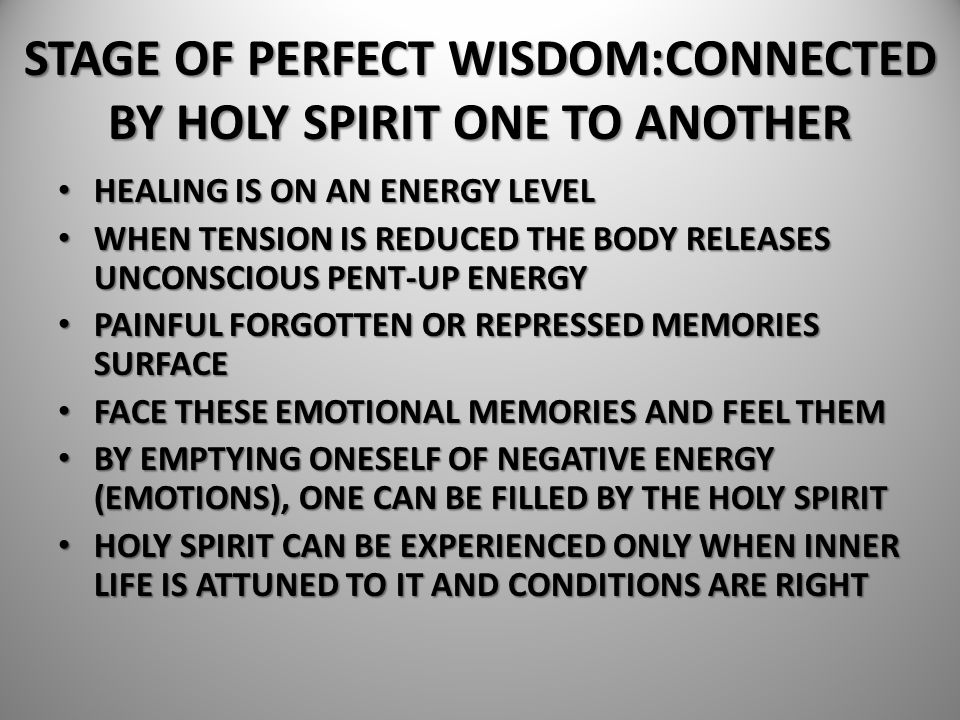 HEALING IS ON AN ENERGY LEVEL HEALING IS ON AN ENERGY LEVEL WHEN TENSION IS REDUCED THE BODY RELEASES UNCONSCIOUS PENT-UP ENERGY WHEN TENSION IS REDUC
