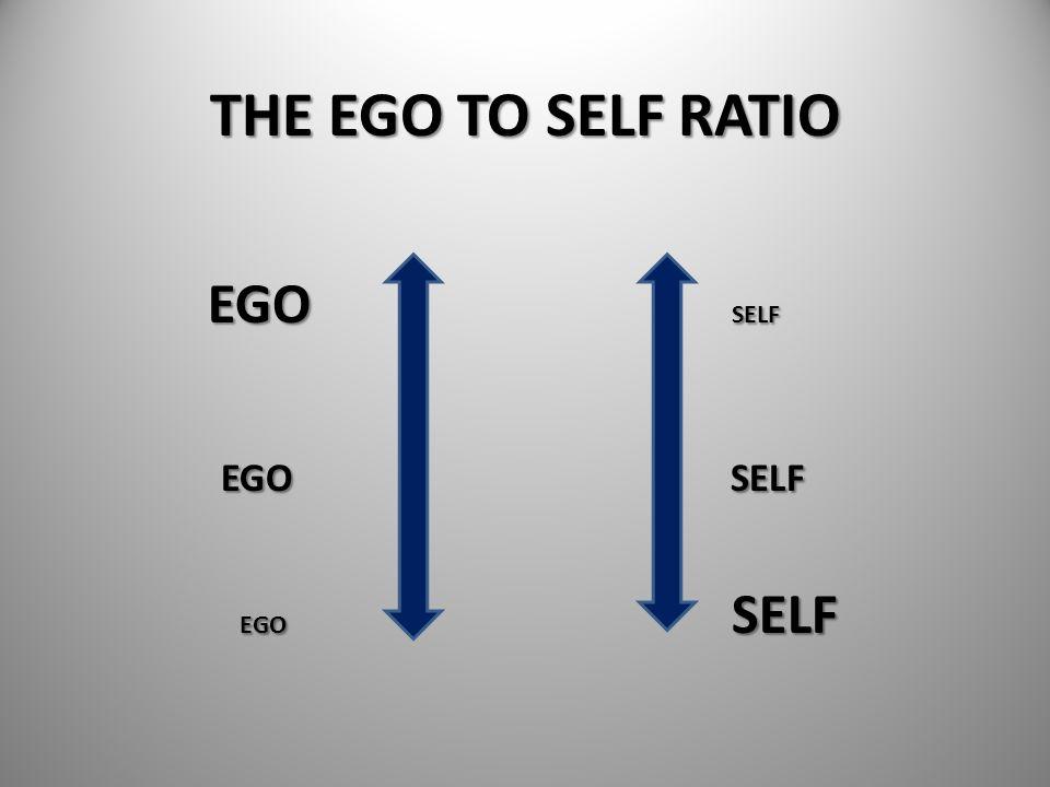 THE EGO TO SELF RATIO EGO SELF EGO SELF