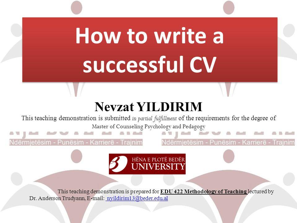 What makes a good CV.